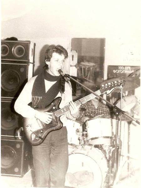 репетиция в ТСЭИС, А.Горячев, 1989 г.