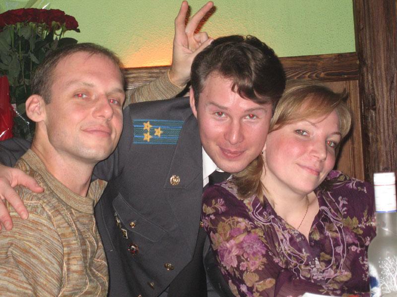 День рождения Марины Горячевой (Алексей, Игорь, Марина)