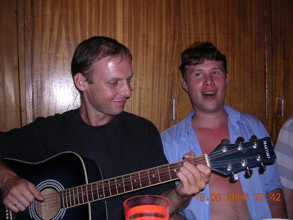 """квартирник на даче, Орудьево, снт.""""Лесное"""", август 2006г."""