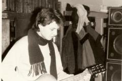А.Горячев, репетиция в ТСЭИС, 1990 г.