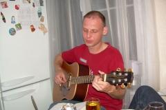 квартирник на дне рождения Алексея Горячева (на фото САМ), 2010г.